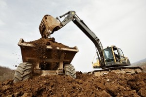 excavator clearing site in cheshire